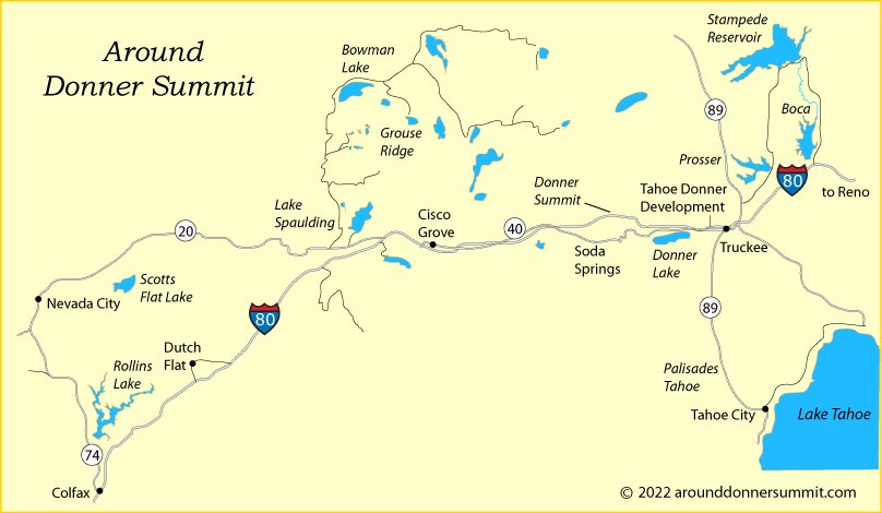 map of greater Donner Summit area, CA