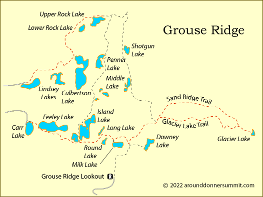 map of Grouse Ridge, Tahoe National Forest, CA