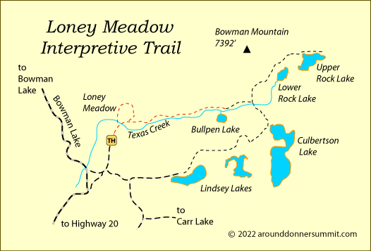 Loney Meadow Interpretive Trail, Tahoe National Forest, CA