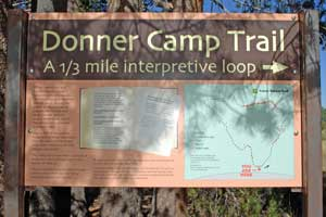 sign at Donner Camp on Alder Creek, CA
