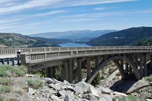 Highway 40, Rainbow Bridge overlooking Donner Lake, CA